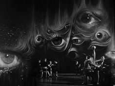 S. Dali designed the 'curtain' for Hitchcock's movie Spellbound.