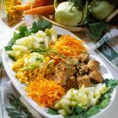 Lajos Mari konyhája - Gombás-sonkás sertésrolád Cobb Salad, Feta, Grains, Rice, Red Peppers, Seeds, Laughter, Jim Rice, Korn