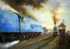 Train Art, Train Pictures, Mallard, Diesel, Paintings, Age, Classic, Diesel Fuel, Derby