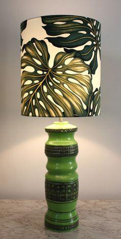 vintage retro lime lamp/SOLD