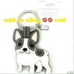 🎉🎉Coach leather Boston Terrier Key Host Pick 😘❤ Cute boxer key chain   Coach new Coach Accessories