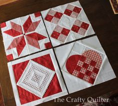 Nordic Mini QAL, Row 4 and Finishing (The Crafty Quilter) This is the final row of the Nordic Mini QAL. We're adding a row of Nordic hearts to complete the four rows of this mini quilt. Quilting Tutorials, Quilting Projects, Quilting Designs, Small Quilts, Mini Quilts, Quilt Block Patterns, Quilt Blocks, Scandinavian Quilts, Diy Craft Projects