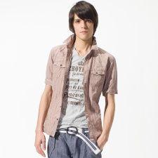 カラミドビー絞りシャツ /ニコルクラブフォーメン(NICOLE CLUB FOR MEN)