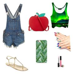 """""""Summer party"""" by elenaanais on Polyvore featuring Free People, Prada, Lancôme, Caso and Laser Kitten"""