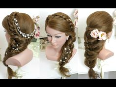 2 easy hairstyles for long hair tutorial - YouTube
