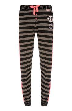 Primark - Grey Stripe Pete Panda PJ Leggings £6.00