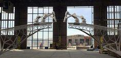 3D printing a bridge.