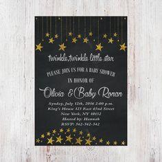 Twinkle, Twinkle Little Star Baby Shower Invitation - Printable