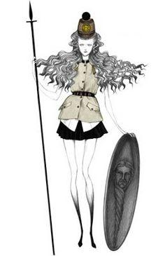 Laura Laine: ilustraciones de moda con aire gótico