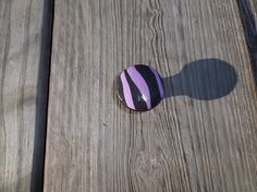 Purple and Black Zebra Stripe Animal  Print 1.5 by ReadinginRags, $3.75