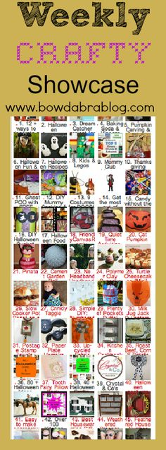 Check out our Weekly Crafty Showcase! It runs Saturday thru Thursday. Then we feature our favorite blogger projects on Friday! http://bowdabrablog.com/2012/09/08/saturday-showcase-craft-projects-18/#