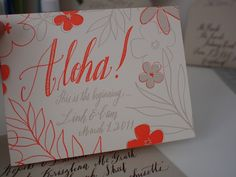 cover for hawaiian wedding announcement/pop up map