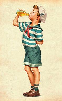 Vintage Illustrations by Oscar Ramos   Inspiration Grid   Design Inspiration