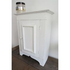Photo On Vintage White Shabby Chic Bathroom Vanity Wall Cupboard Cabinet Unit