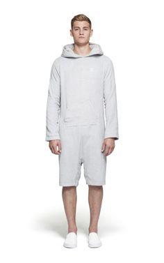 @Onepiece Pearl Towel Jumpsuit Light Grey