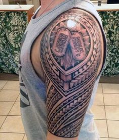 Tribal Sleeve Dog Tag Tattoos For Guys Dad Tattoos, B Tattoo, Best Sleeve Tattoos, Couple Tattoos, Tattoos For Guys, Tattoos Infinity, Infinity Tattoo Designs, Baby Tattoo For Dads, Dog Tags Tattoo