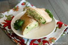 Avocado and lime chickpea sandwich wrap... vegetarian wrap, vegetarian recipe