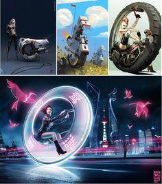 sci fi monowheel | Le déclin des monowheels réels