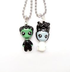 Tiny Little Frankenstein and Bride  por WonderlandContraband, $38.00