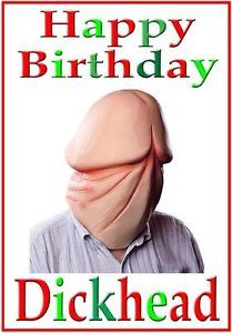 Adult Funny Rude Birthday Card