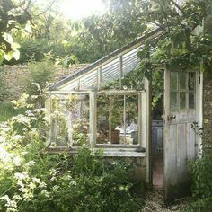 Cottage Gardens lean to greenhouse cottage garden - Lean to greenhouses and solariums are a beautiful and make a gorgeous architectural backyard garden design element. Best lean to greenhouse ideas and design Lean To Greenhouse, Greenhouse Plans, Greenhouse Gardening, Outdoor Greenhouse, Homemade Greenhouse, Cheap Greenhouse, Greenhouse Wedding, Diy Small Greenhouse, Greenhouse House