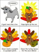 The Turkey and the Pumpkin Story Sequencing Cards