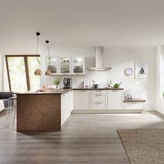 Der Mix machts - Landhausküche mit dem Trendmaterial Kupfer kombiniert