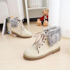 ENMAYER Fashion Boots Lace-up Rount Toe Shoes Women New Ankle Boots Pl | VIXfashion