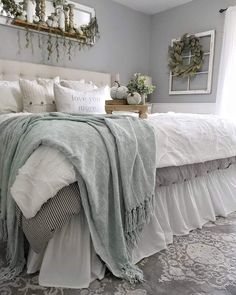Interesting Rustic Bedroom Design farmhouse living room, rustic bedroom, rustic bedroom furniture, rustic master bedroom, girls far. Rustic Bedroom Design, Rustic Bedroom Furniture, Home Decor Bedroom, Bedroom Designs, Modern Bedroom, Rustic Bedroom Blue, Green Master Bedroom Furniture, Romantic Master Bedroom Decor On A Budget, Bedroom With Gray Walls
