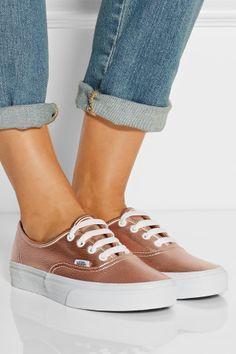Vans|Metallic leather sneakers