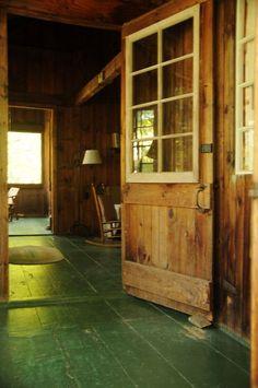 green floor and that door!