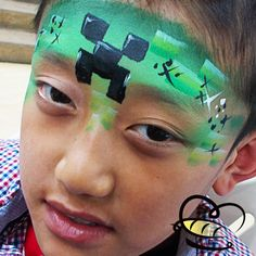 Learning New Face Paint Designs Every Day! Minecraft Creeper