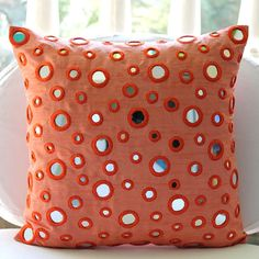 Throw Pillow Covers 16x16 Decorative Silk Mirror by TheHomeCentric, $29.50