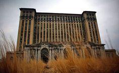 Abandoned Central Station in Detroit.