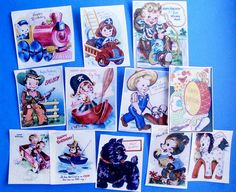 Vintage Birthday Boy edible image wafer papers for your cookies, fondant or chocolates