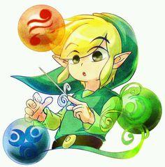 The Legend of Zelda | Wind Waker | Toon-Link Elemente