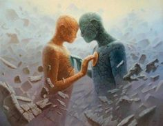 How to make a twin flame relationship work? Twin flames relationships are recklessly unpredictable. When the flames come to each other, their Art Visionnaire, Twin Flame Relationship, Twin Souls, Soul Connection, Finding Your Soulmate, Visionary Art, In A Heartbeat, Oil On Canvas, Twins