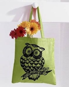 Owl Large Tote Bag