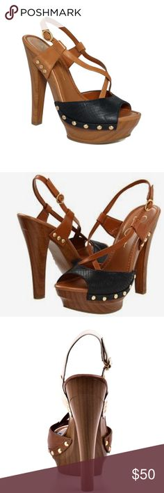"""Jessica Simpson Heel Only worn indoors. Adjustable buckle closure at ankle strap. Heel height 5 3/4"""" approx. studied midsole super sexy. Platform height 1 3/4"""" approx. new with sticker tag on bottom Jessica Simpson Shoes Heels"""