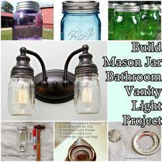 Build Mason Jar Bathroom Vanity Light Project Homesteading  - The Homestead Survival .Com