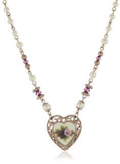 1928 Jewelry Manor House Victorian Heart Necklace - 1928, Heart, House, Jewelry, Manor, Necklace, Victorian http://designerjewelrygalleria.com/1928-jewelry/1928-jewelry-manor-house-victorian-heart-necklace/