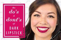 dark lipstick how to