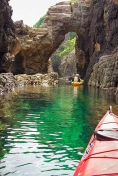 Kayaking the Sea Caves, Okinoshima Islands, Shimane, Japan! Dream Vacations, Vacation Spots, Places To Travel, Places To See, Shimane, Photo Images, Places Around The World, Japan Travel, Kayaking