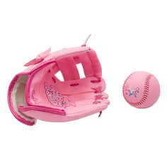 Barbie 9 inch Foam Ball and Baseball Glove Set    have to get this for ally