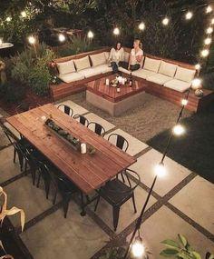Magnificent Backyard Design Ideas to Try for Your Garden Marveolus Small Backyard Garden Landschaftsbau-Ideen Small Backyard Gardens, Small Backyard Landscaping, Backyard Seating, Landscaping Design, Cozy Backyard, Lounge Seating, Concrete Backyard, Terraced Backyard, Shade Landscaping