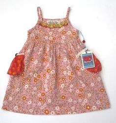 Matilda Jane Girls Good Hart Sundew Pink White Floral Knit Tank Dress 2 NEW