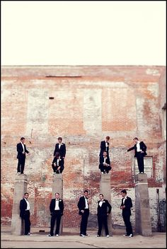 stack the groomsmen