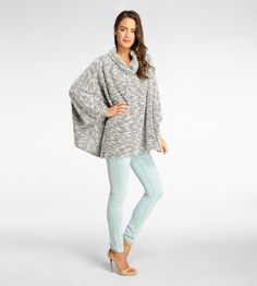 Juno Poncho- Porcelain Combo-XS-S
