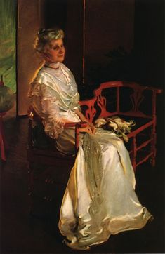 Mrs. Richard Low Divine by Cecilia Beaux (a portrait of my great great grandmother)