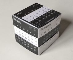 desk calendar template - a 2015 calendar and puzzle cube!